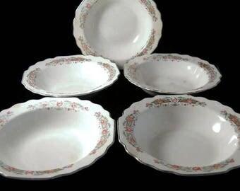 Vintage Lido W S George White Bowl Set, Primitive Home Decor Pieces, Collectible Bowls, Vintage China Bowls, Primitive Bowls