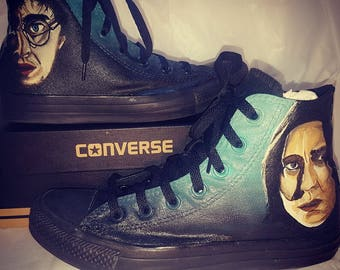 Harry Potter  Inspired Custom Painted Shoes Vans/Converse Size US W 9