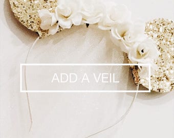 Add a Tulle Veil to Any Headband