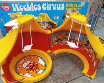 1970s Vintage Weeble Wobble Circus Playset w/ BOX