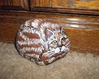 Small Tabby Cat Rock