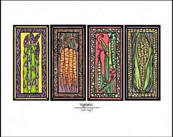 "Vegetables - Garden Art - 8""x10"" Unframed Giclee Print"