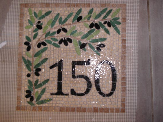 Numero De Maison Provencale En Mosaique Plaque Maison