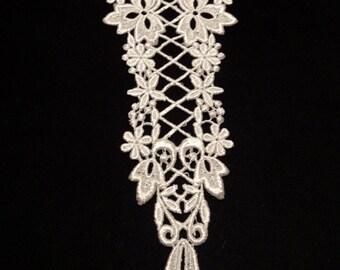 lace white guipure lace 22cm x 7cm