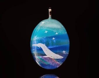 Celestial Whale Pendant/Humpback/Jewelry/Unique/gift idea/