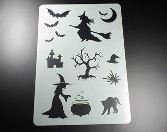 Mask witch Bat cat spider Halloween-BA02