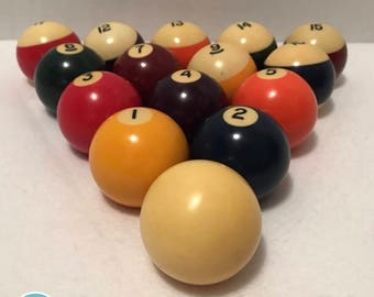 Vintage Pool Balls Billard Pool Balls Belgium Pool Balls Vintage Billard equipment