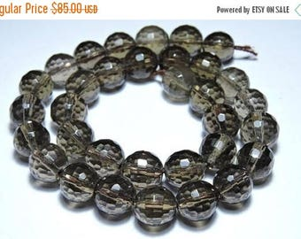 25% OFF 30 Pieces Very Beautiful Natural Smoky Faceted Balls Shaped Beads Size 12X12 MM