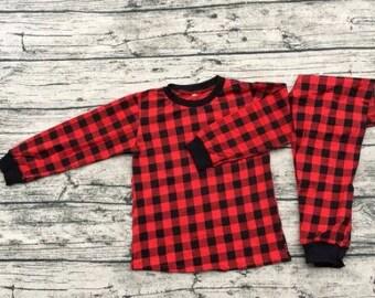 Personalized Christmas Pyjamas, Pajamas for kids, Adults, Xmas, PJ's, plaid, buffalo plaid, striped, men, women, children, bedtime, night
