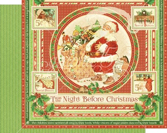 CLEARANCE SALE!  Graphic 45 Twas The Night Before Christmas 12x12 Paper Mega Kit