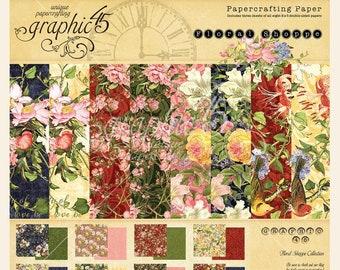 NEW!!! Graphic 45 Floral Shoppe 8x8 Paper Pad SC007775