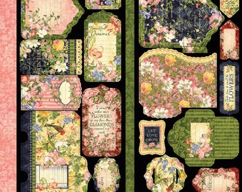 NEW!!! Graphic 45 Floral Shoppe Tags and Pockets SC007777