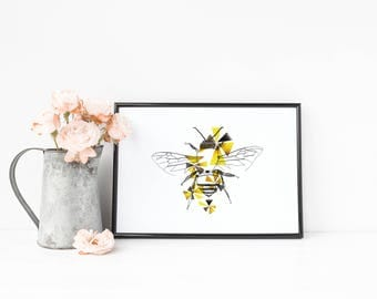 Make - A5 Honeybee Geometric Print