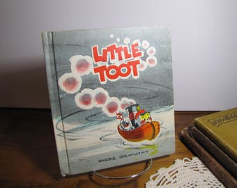 Vintage Children's Book - Little Toot - Hardie Gramatky - Copyright 1939 - Weekly Reader Book