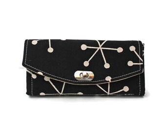 Clutch Wallet, Necessary Clutch Wallet, Fabric Wallet, Vegan Wallet, Wallet for Women, Checkbook Wallet, Wallet with Matching Purse,