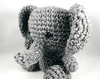 Crochet Handmade Elephant Plush Amigurumi Doll Stuffed Animal