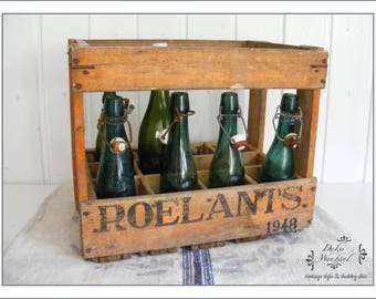 "BELGIUM wooden box / bottle box ""ROELANTS"""