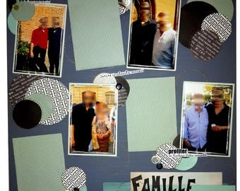 "Giant canvas 7 ""Family"" photos to personalize: scrappee canvas"