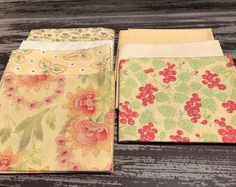 Floral Fabric, Fat Quarters,  Moda, 7 Piece Fat  Quarter Bundle in Yellow, 100% Cotton