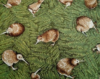 Fat quarter patchwork cotton kiwi, kiwi cotton