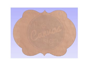 Blank Wood Decorative Plaque Cutout #5 -DIY - Wreath Accent - Door Hanger - Unfinished - Ready to Paint & Personalize