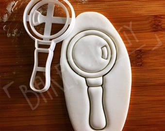Magnifying Glass cookie cutter | biscuit cutters | one of a kind ooak magnifier lens gift solving Accessory crime pocket tool kit
