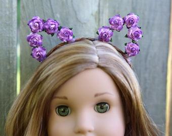 Cat Ear Headband *PINK & PURPLE* for American Girl Dolls