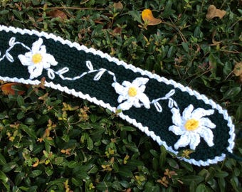"""reproduction WWII era crocheted """"chaplet"""" with Edelsweiss"""