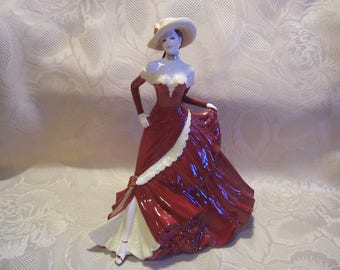 "Coalport Bone China ""Marilyn"" Figurine Ladies of Fashion, England"