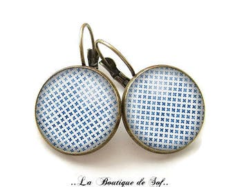 Stud Earrings with cabochon 18 mm (030617)