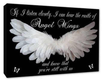 Angel wings, If I Listen closely, I can Hear the Rustle of Angel Wings - Wall Canvas A1
