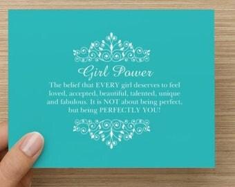 Girl Power/Notecard/10pk