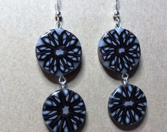 Earrings double lozenges