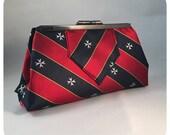 Custom tie clutch bag - tie evening bag - memory gift - personalised clutch bag - personalised evening purse - wedding tie bag - upcycle bag