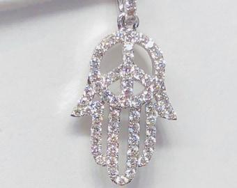18K Hamsa with Diamonds