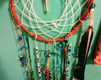 Blue Crystal Energy Cleansing Dream Catcher
