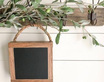 Mini hanging chalkboard