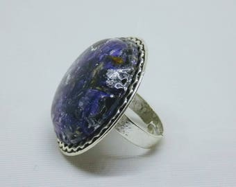 Flower Resin Ring, Botanical Ring, Nature Jewelry, Pressed Flower, Floral Ring, Nature Ring, Botanical Ring, Jewelry, Rings, Delphinium Ring