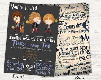 Harry Potter Digital birthday invitation