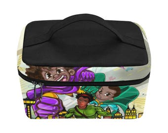 Lunch Box For Boys - Insulated Food Bags, Food Containers For Kids And Adults, Super Hero Illustration
