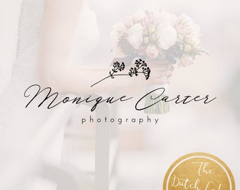 Premade Photography Logo Design - Delivered in Black, White & Gold Color - Design #10 - Monique Carter