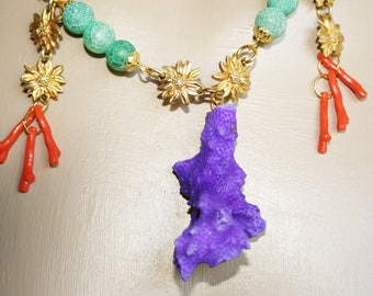 Fashion - purple coral necklace