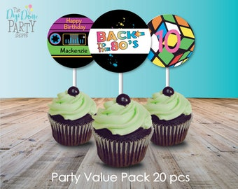 1980's/80's/Eighties Party Printable Value Pack, Instant Download
