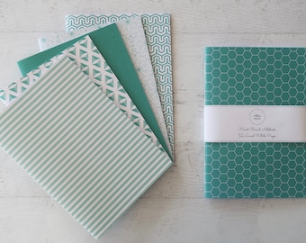 Mint Softcover Notebook Journal Travel Notebook Stationery Gift for Writer Hand Bound 32 Lined White Pages *** Sold Individually ***