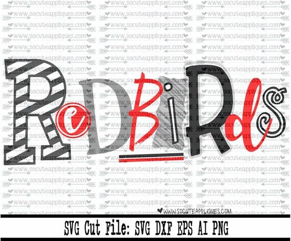 Redbirds Svg Cut File Cheer Svg School Spirit