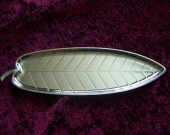Vintage Silver Leaf Shaped Tray