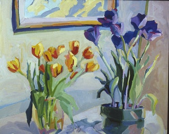 """NEW : """"Tulips"""", a 10 x 14"""" image.  limited edition of 12 prints, signed and numbered, by Henry Isaacs"""