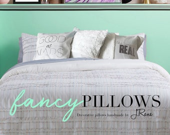 "Customizable Throw Pillow With Insert 12""x16"", 16""'x16"", 18x18"", 20""x20"""