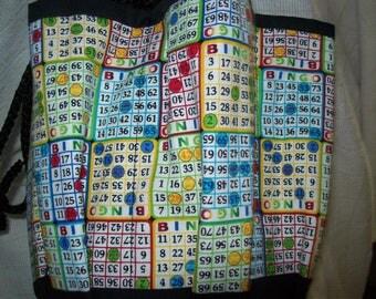Bingo Cards Assortment  Print Cloth Bingo Bag