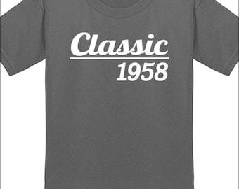 60th Birthday T Shirt Classic 1958 T-Shirt Milestone Birthday Party Gift